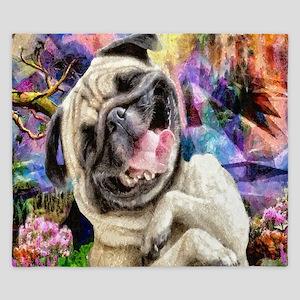 Happy Pug King Duvet