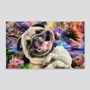 Happy Pug Area Rug