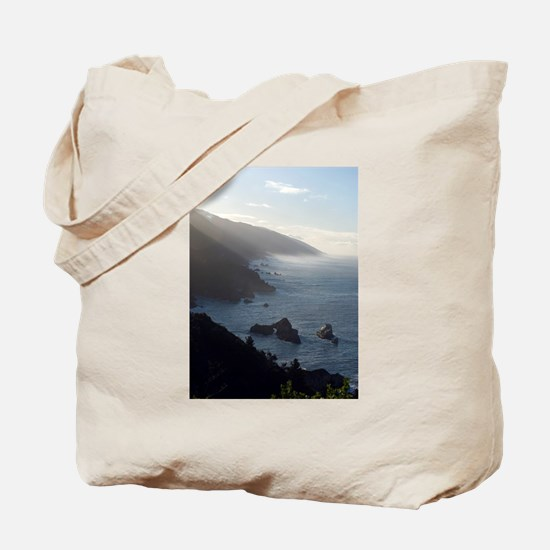 big sur morning mist Tote Bag