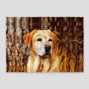 Yellow Lab 5'x7'Area Rug