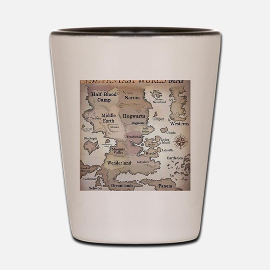 Fantasy World Map Shot Glass