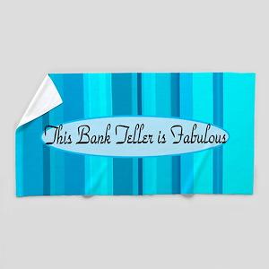 Blue Bank Teller Beach Towel
