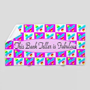 Best Bank Teller Beach Towel