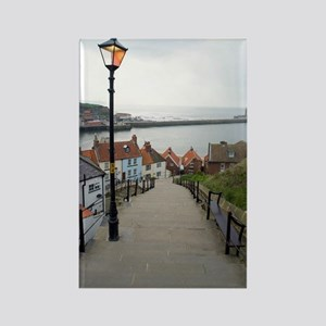 199 church steps in Whitby Rectangle Magnet