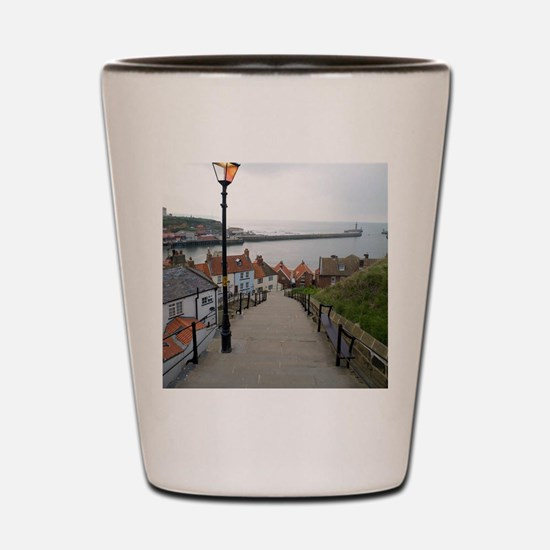 199 church steps in Whitby Shot Glass