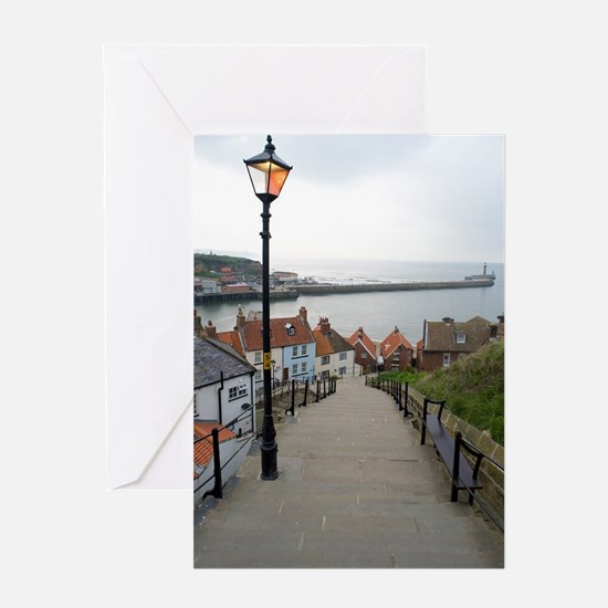 199 church steps in Whitby Greeting Card