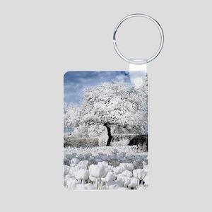 Tree in Tulip Field Keychains