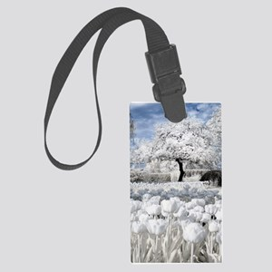 Tree in Tulip Field Luggage Tag