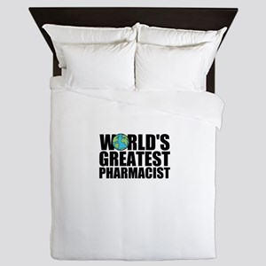 World's Greatest Pharmacist Queen Duvet