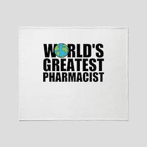 World's Greatest Pharmacist Throw Blanket
