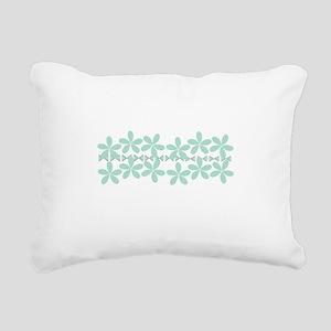 Pastel Mint Floral Rectangular Canvas Pillow