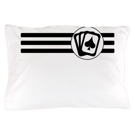Playing Cards Stripes Pillow Case
