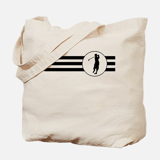 Golf Stripes Tote Bag