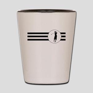 Golf Stripes Shot Glass