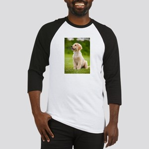 Happy Golden Puppy Baseball Jersey