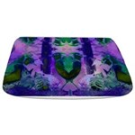 Abstract Rose Birds Bathmat