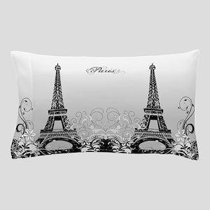 Eiffel Tower Paris (b/w) Pillow Case