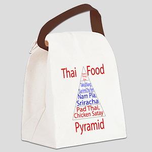 Thai Food Pyramid Canvas Lunch Bag