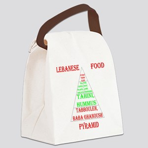 Lebanese Food Pyramid Canvas Lunch Bag