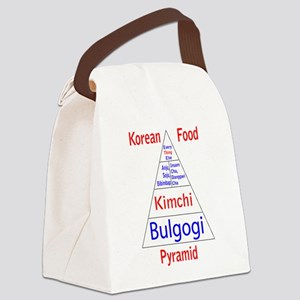 Korean Food Pyramid Canvas Lunch Bag