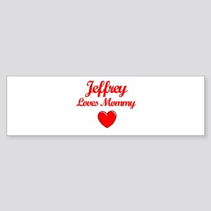 Jeffrey Loves Mommy Bumper Sticker