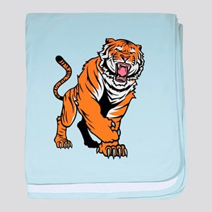 Angry Bengal Tiger baby blanket