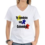Soy Colombia Women's V-Neck T-Shirt