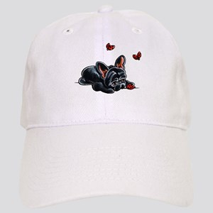 Black Frenchie Ladybug Baseball Cap