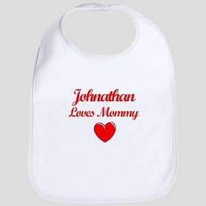 Johnathan Loves Mommy Bib