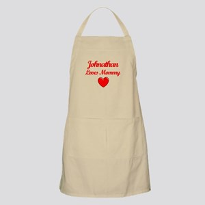 Johnathan Loves Mommy BBQ Apron