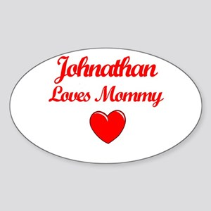 Johnathan Loves Mommy Oval Sticker
