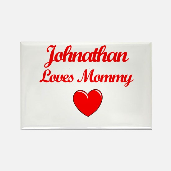 Johnathan Loves Mommy Rectangle Magnet