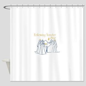 Following Yonder Star Shower Curtain