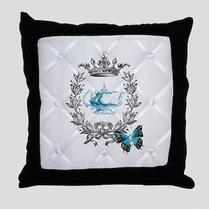 elegant paris vintage crown tea pot butterfly Thro