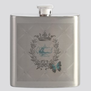 elegant paris vintage crown tea pot butterfly Flas