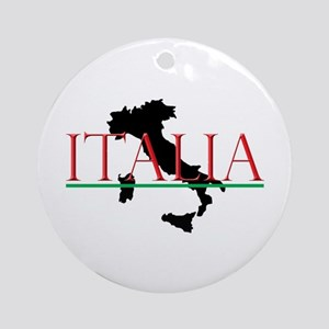 Italia: Italian Boot Round Ornament