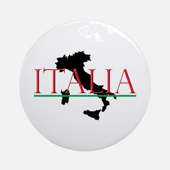 Italia: Italian Boot Round Ornament