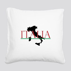 Italia: Italian Boot Square Canvas Pillow