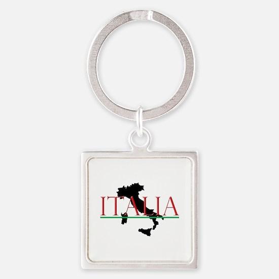 Italia: Italian Boot Square Keychain