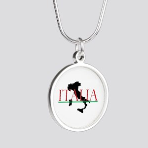 Italia: Italian Boot Silver Round Necklace