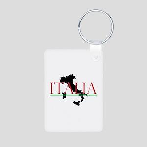 Italia: Italian Boot Aluminum Photo Keychain