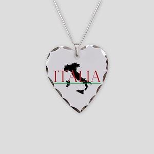 Italia: Italian Boot Necklace Heart Charm