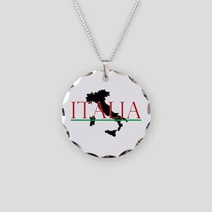 Italia: Italian Boot Necklace Circle Charm