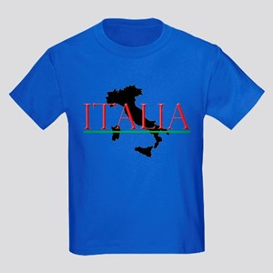 Italia: Italian Boot Kids Dark T-Shirt