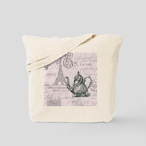 elegant paris Eiffel tower tea pot Tote Bag