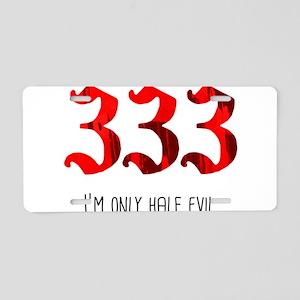 333 Aluminum License Plate