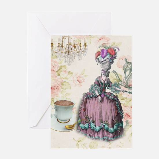 marie antoinette paris floral tea party Greeting C