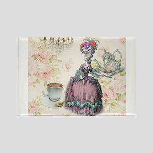 marie antoinette paris floral tea party Magnets
