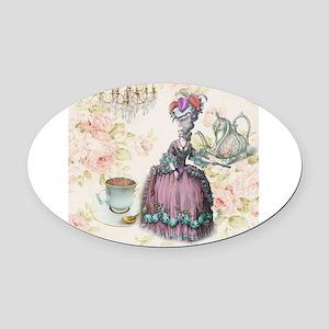marie antoinette paris floral tea party Oval Car M