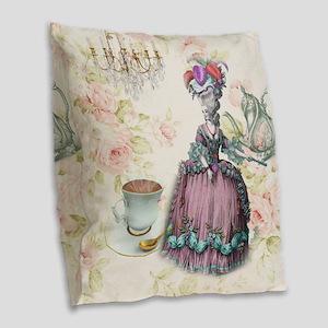 marie antoinette paris floral tea party Burlap Thr